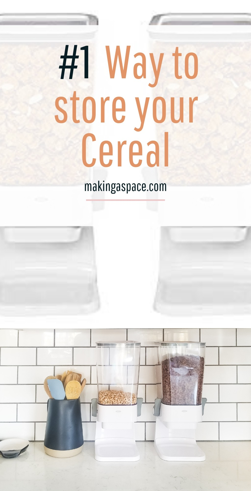 Countertop cereal dispenser