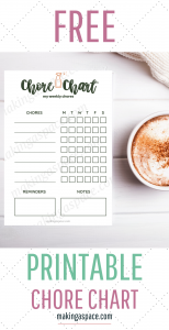 Printable Chore Chart Customizable