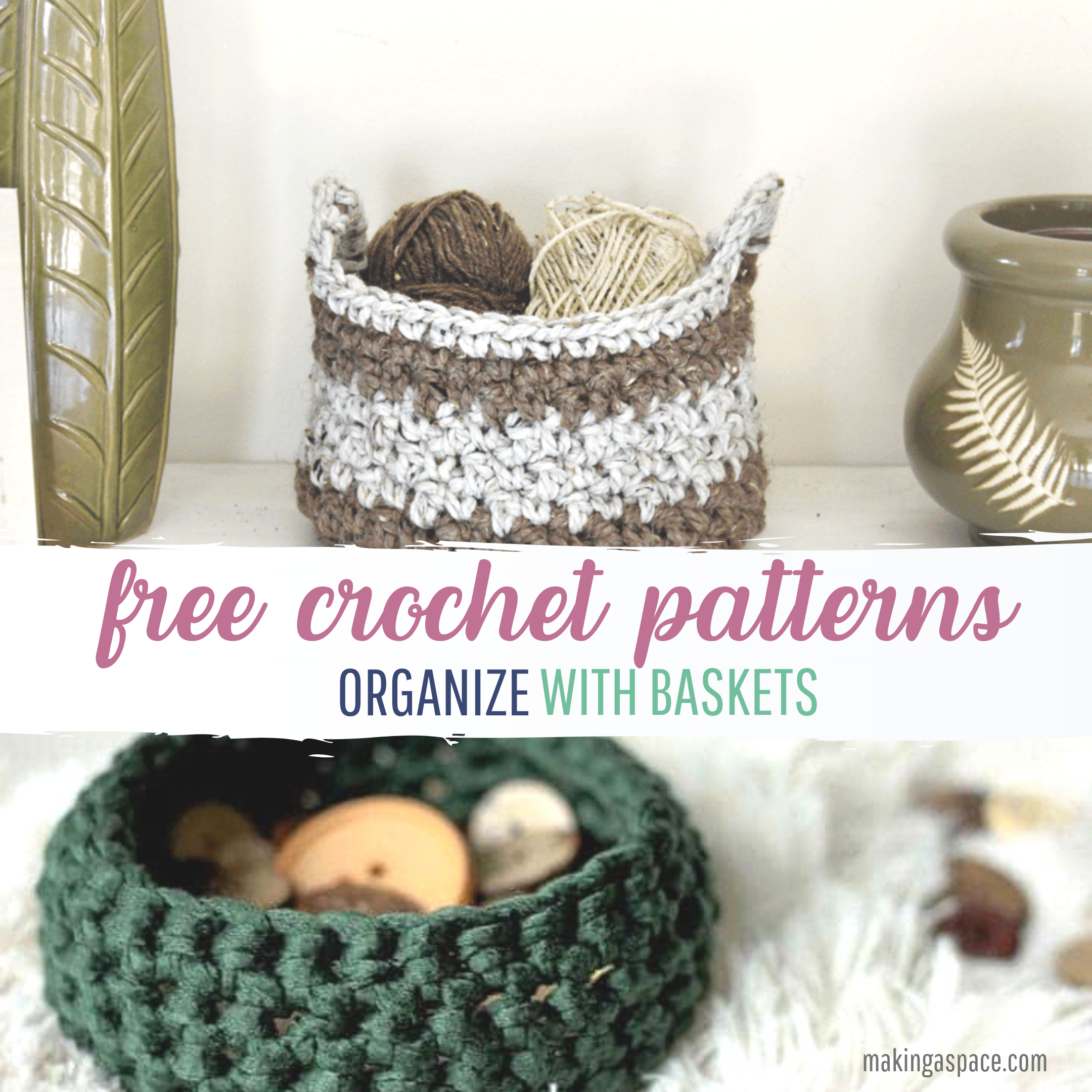 diy crochet baskets free instructions
