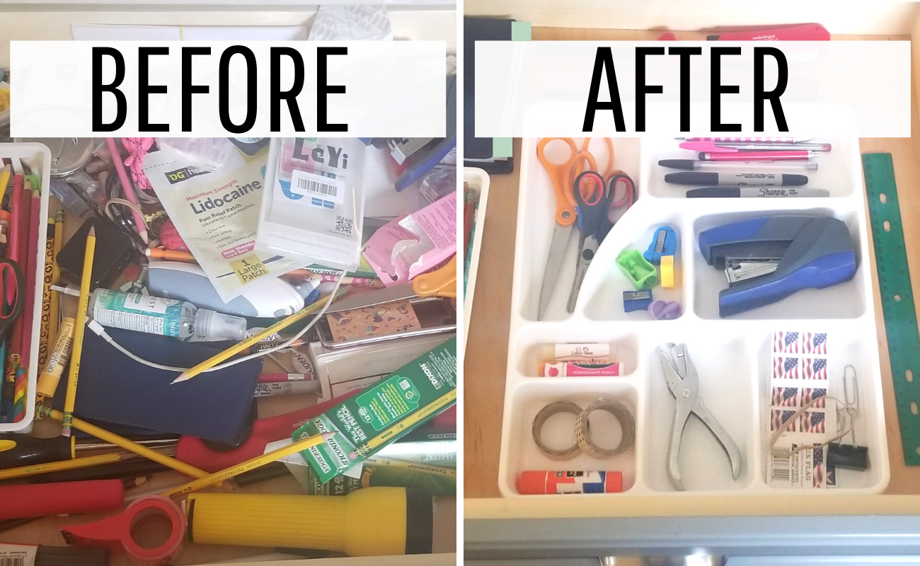 The Easy way on How to organize a junk drawer