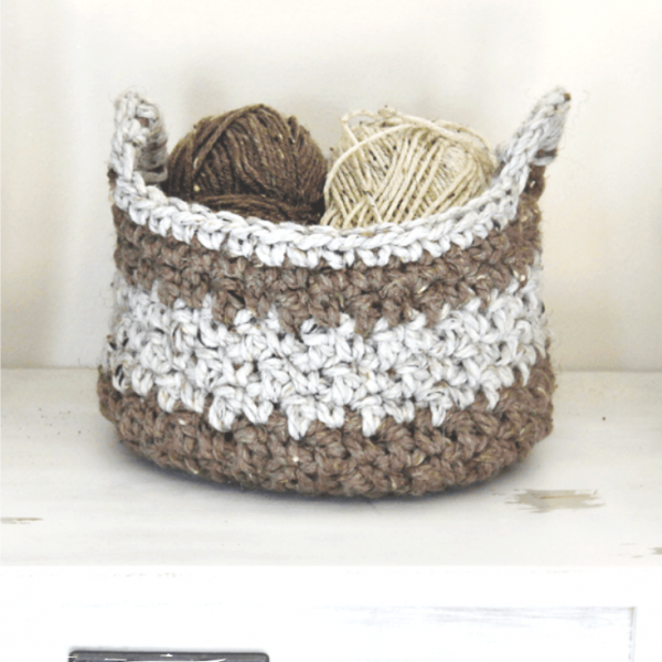 Organizing With Crochet Baskets