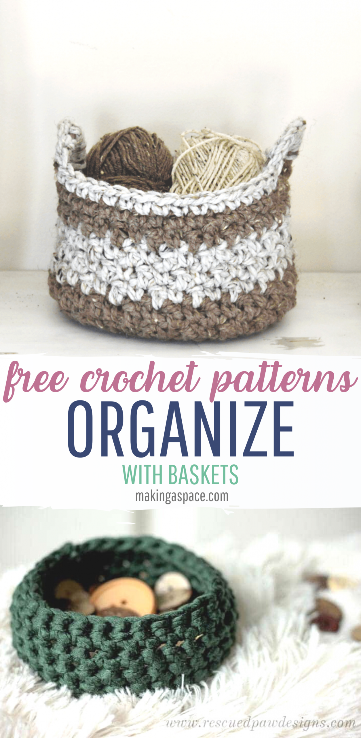 crochet storage bins free pattern