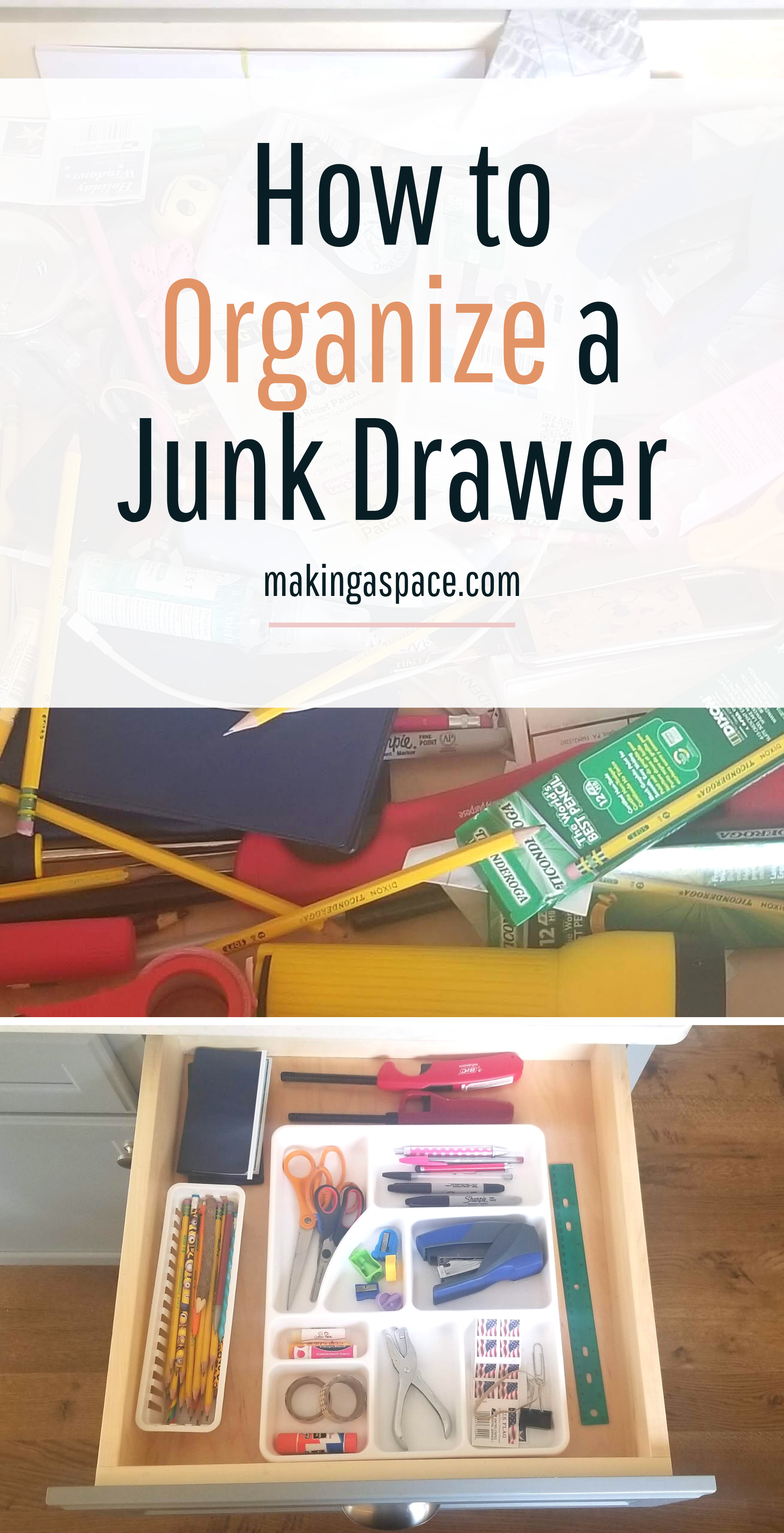 How to organize a Kitchen Junk Drawer