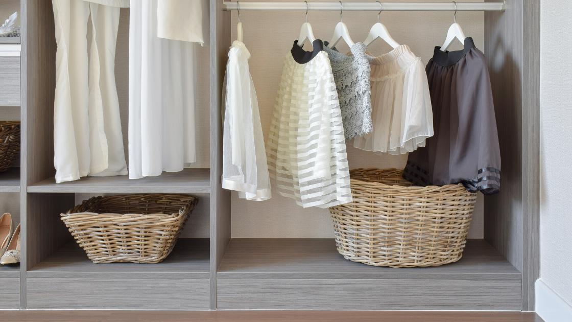 Basket Closet Organizing