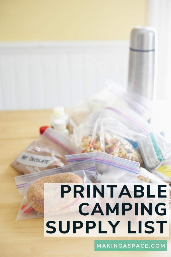 Camping Supply Printable List