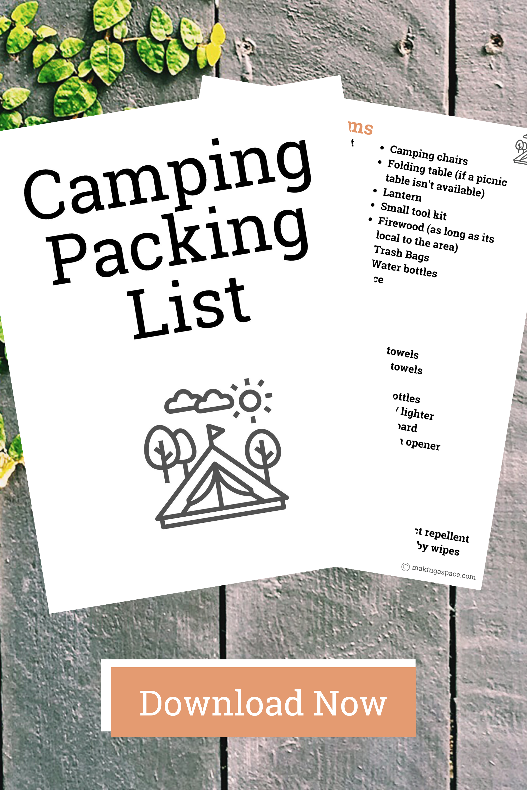 Printable Camping Packing List