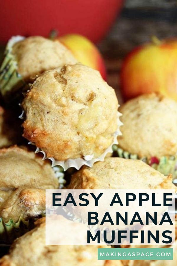 Easy Banana Apple Mini Muffins