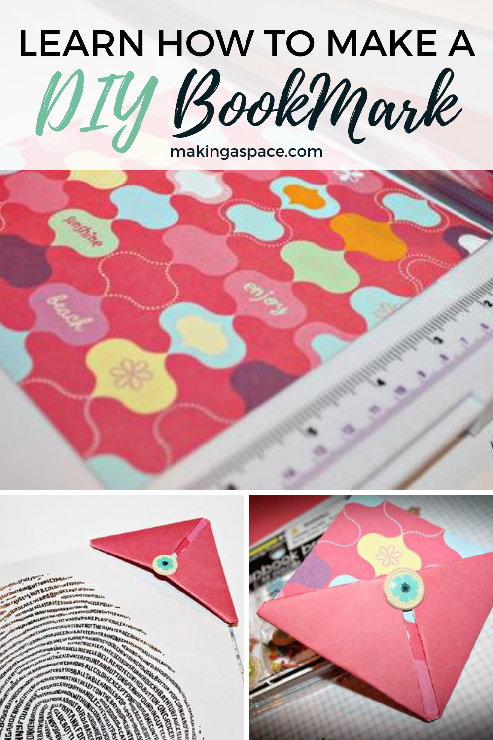 How to make a Paper bookmark Step by Step