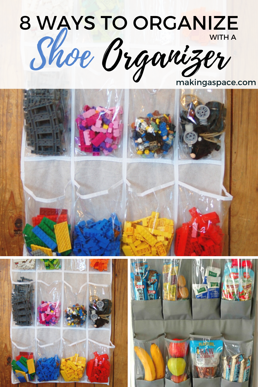 alternative uses for hanging shoe organizer