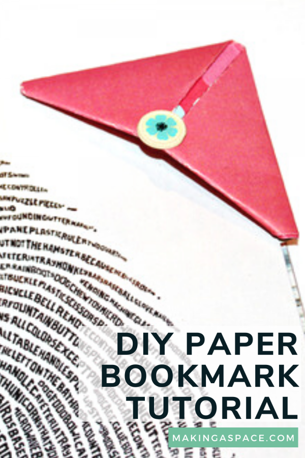 DIY paper book marks out of cardstock