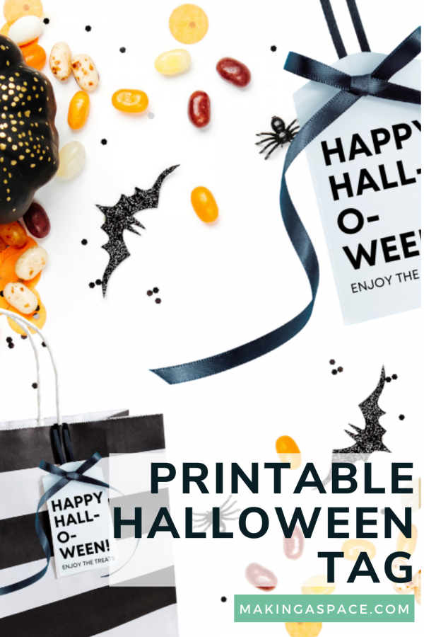 Printable Halloween Tag For Treat Bags