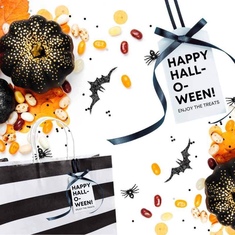 cute halloween tags for treat bags