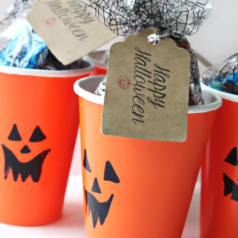 halloween paper treat cups