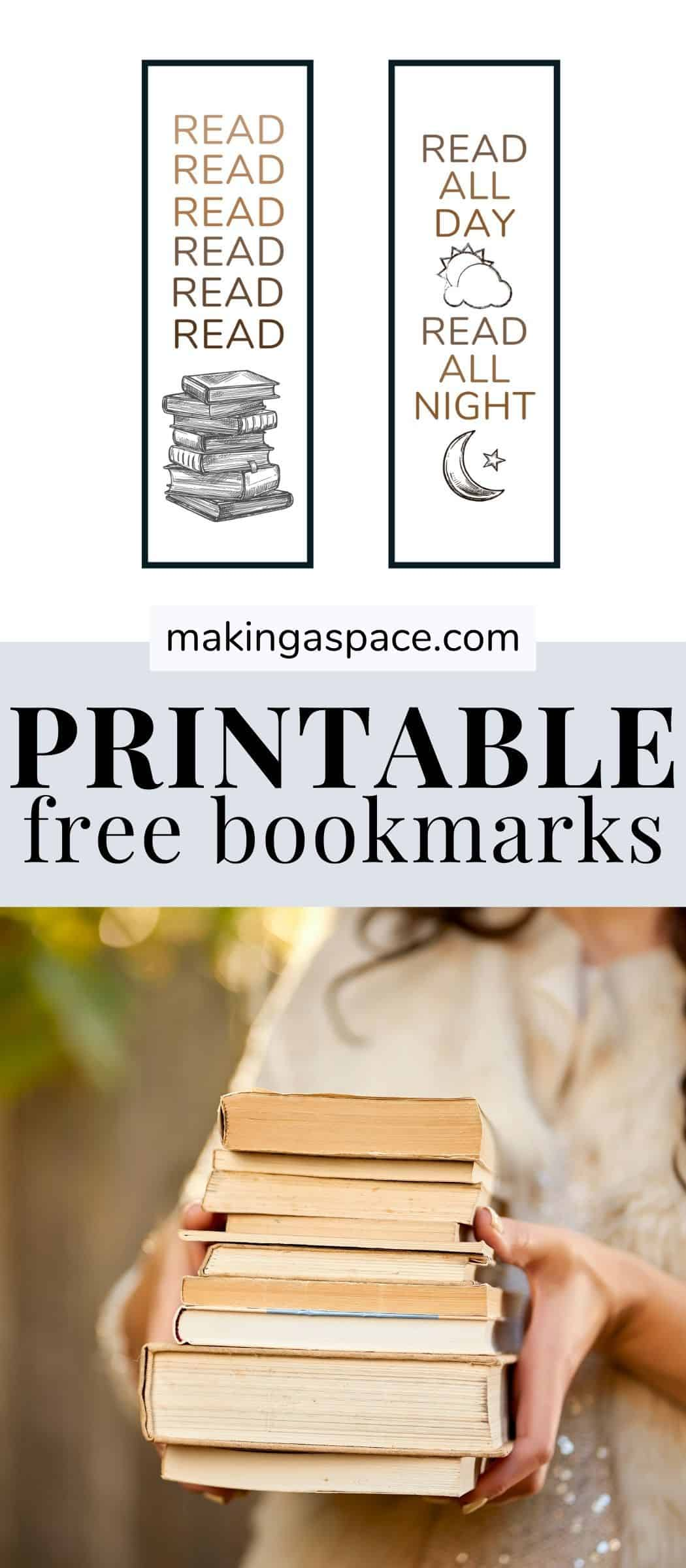 free printable bookmarks PDF