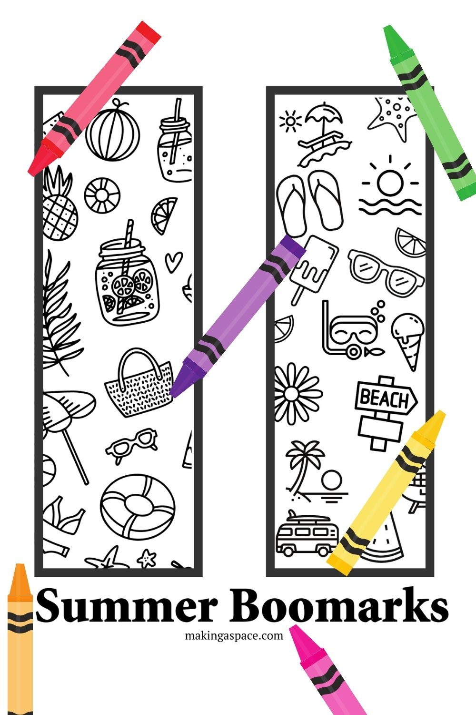 summer bookmark printable